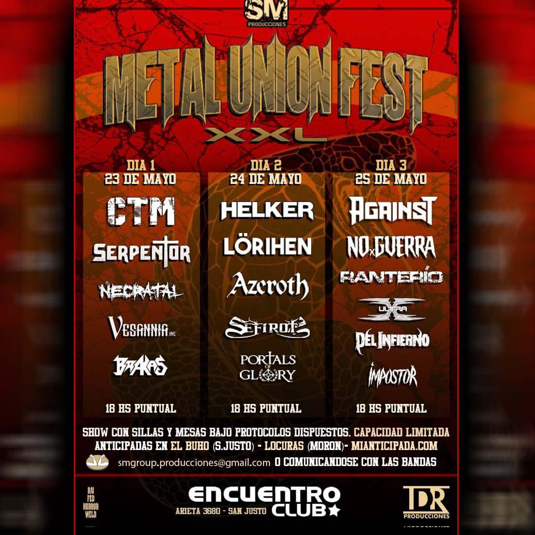 METAL UNION FEST en Encuentro Club